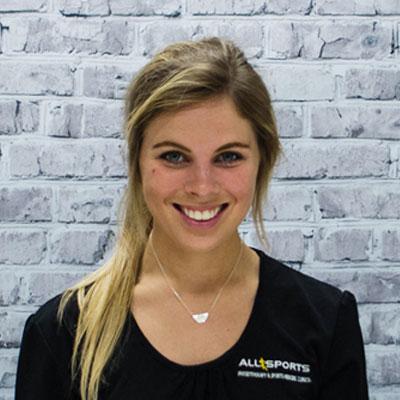Allie Brellis - Allsports Physiotherapy Physiotherapist