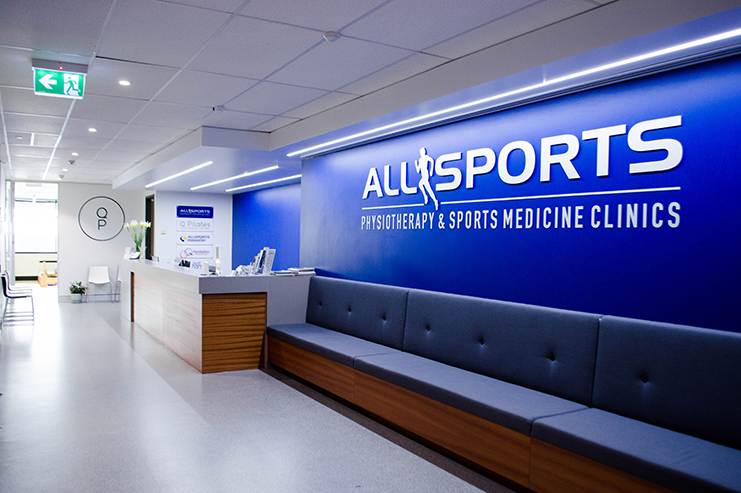 Allsports Physiotherapy Indooroopilly - reception