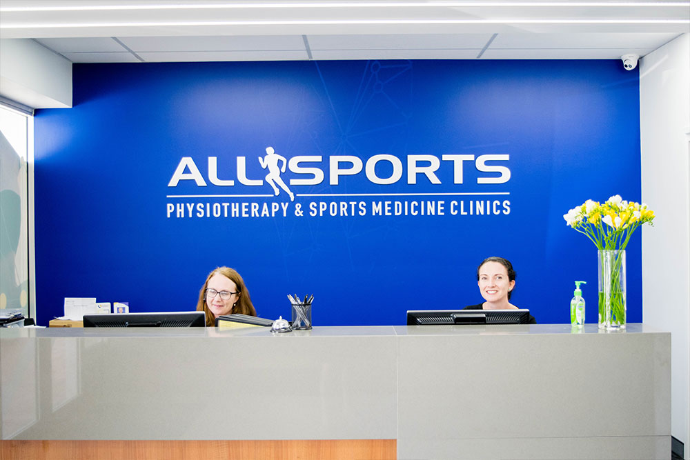 Allsports Physiotherapy The Gap Front Desk