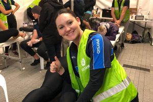 Physiotherapist volunteering at Oxfam Trailwalker Brisbane