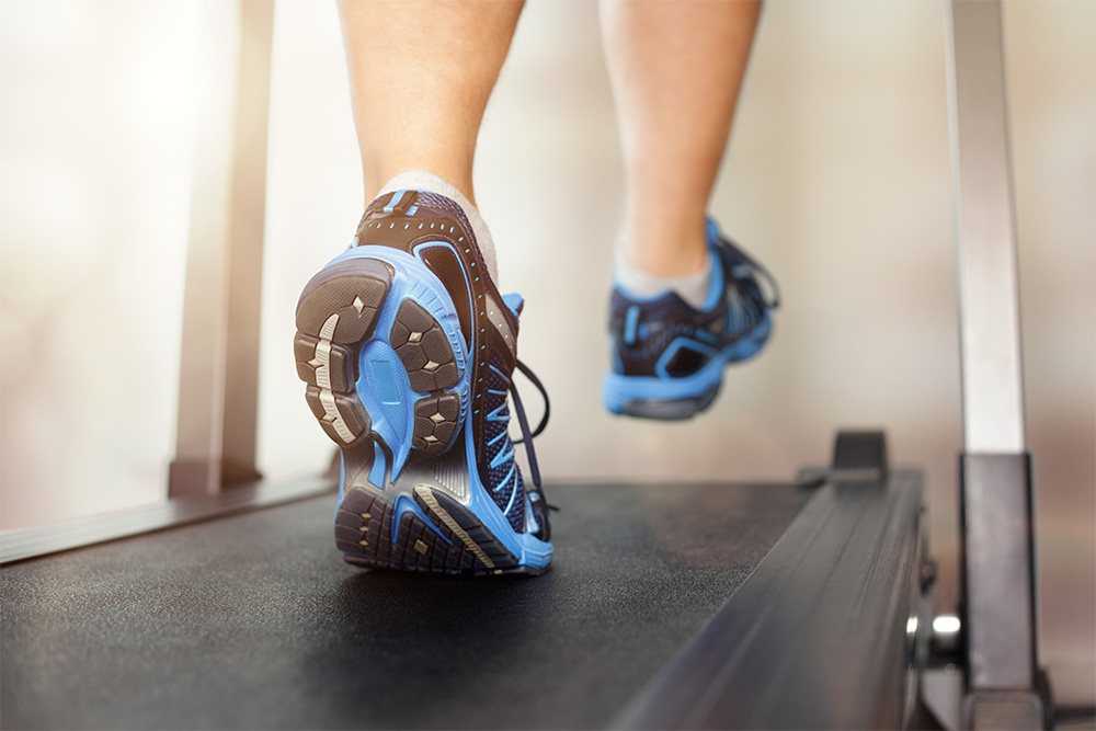 Allsports Physiotherapy - running on treadmill