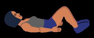 Knee rocks stretch - Tradie Health Month