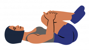 Knees to chest stretch - Tradie Health Month