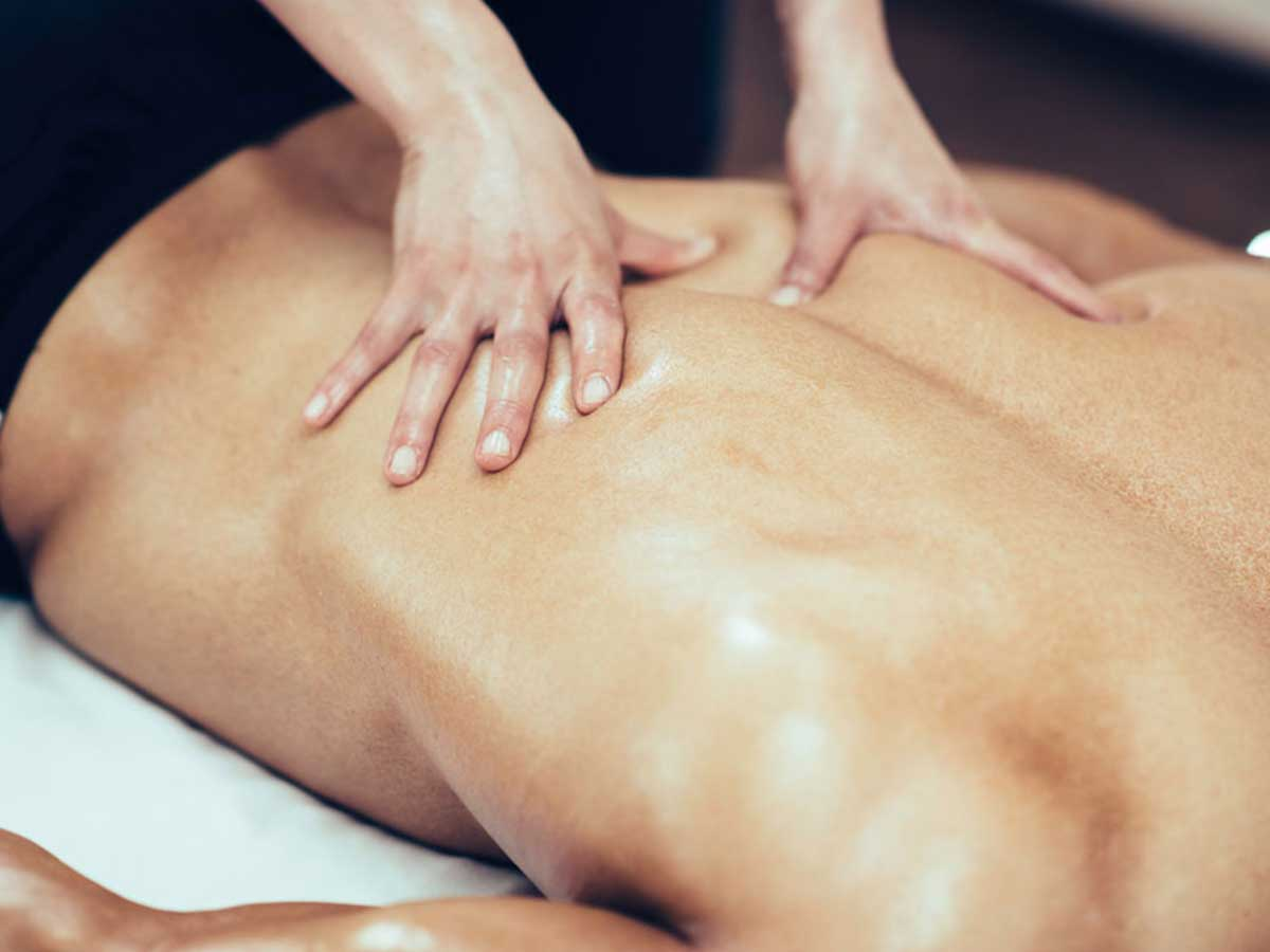 Massage treatment at Allsports Physio